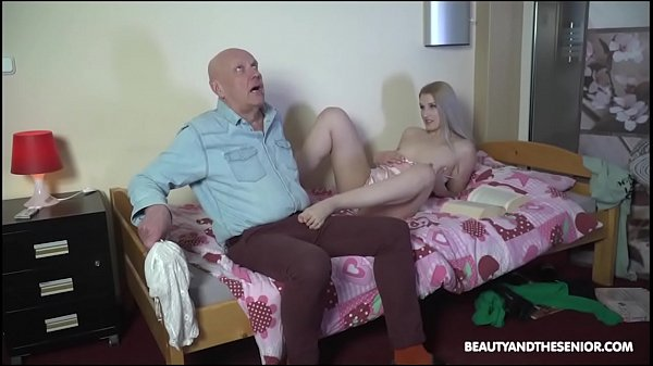 Grandpa Cums in Babe's Mouth One Last Time