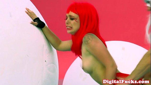 Lucy Tyler nailed in fantasy scene