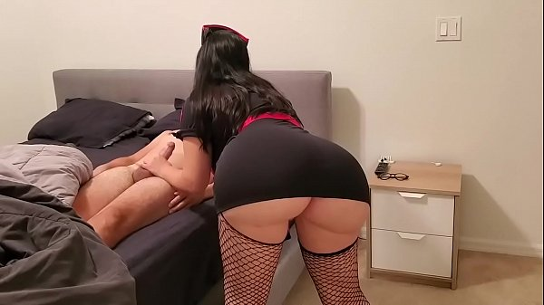 SEXY YOUNG NURSE DESTROYS DICK WITH HER HUGE ASS