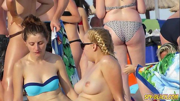 HOT Bikini Amateur TOPLESS Teens - Spy Beach Video