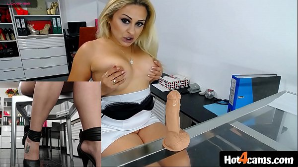 Hot secretary puts show in office fucking toy cock on transparent chair |  WATCH ME NOW on blondikva.hot4cams.com