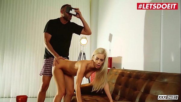 LETSDOEIT - Sweet Blondie GF Nesty Fucked By BF While He's Watching VR Porn Thumb