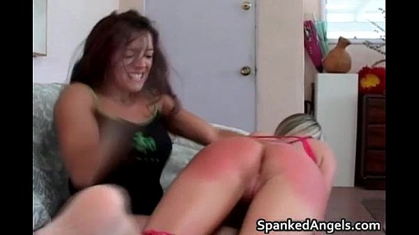 Hot blonde hoe is bent over knees Thumb