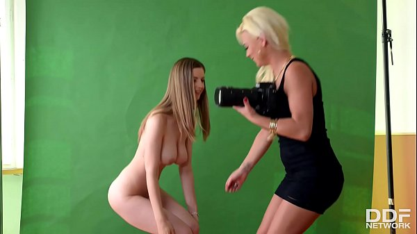 Blonde Milf Afrodity Casts the Young and Hot Stella Cox for Lesbo Action