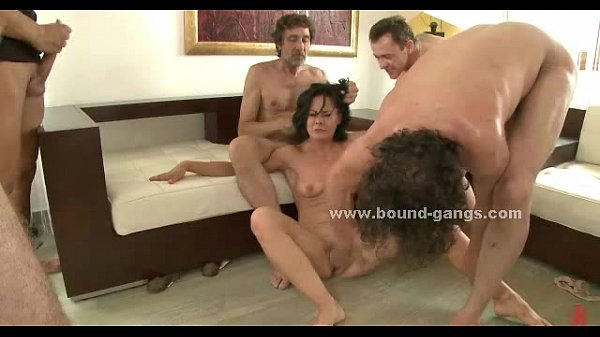 Brunette Sexy Delicious Slut Forced To Suck And Fucked In Extreme Group Sex