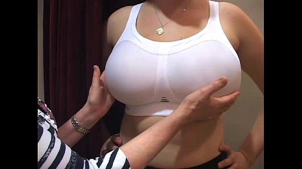 bra fitter grope big boobs girl in a bra shop