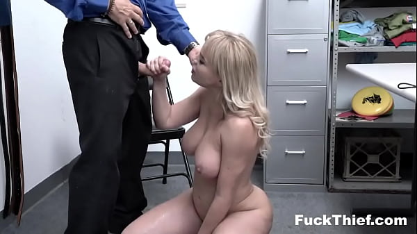 Blonde Shoplifter Gets Caught By Police and Fucked