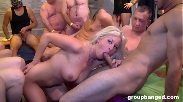 Gentlemen Cover Up Blonde with Their Hot Jizz