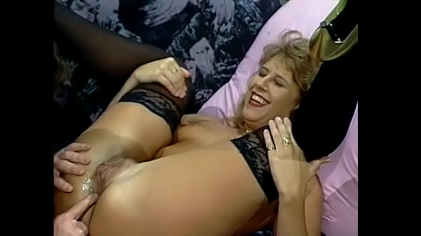 Slut with firm body in black stocking shout out of pleasure while dude is fucking her