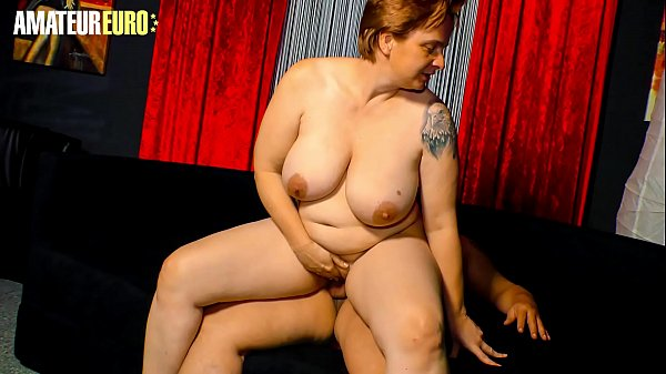 AMATEUR EURO - Hot German BBW Cathrin Shoot Her First Time Porn Movie Thumb