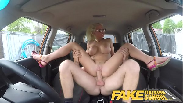 Fake Driving School Busty blonde learner fucks fake driving instructor Thumb
