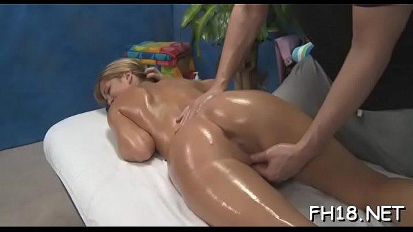 Sensual massage movie scene