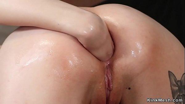 Lesbian group anal fisting mix