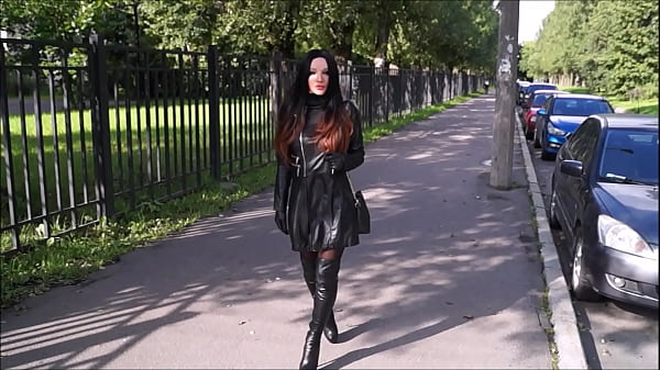 Best Mom Flashing Leather gloves boots. See pt2 at goddessheelsonline.co.uk Thumb