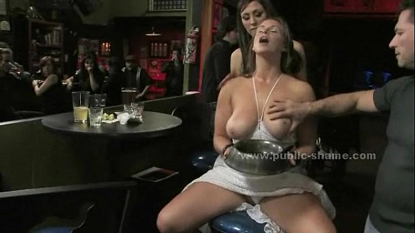 Busty redhead yells after getting bound and fucked in brutal terrific bondage