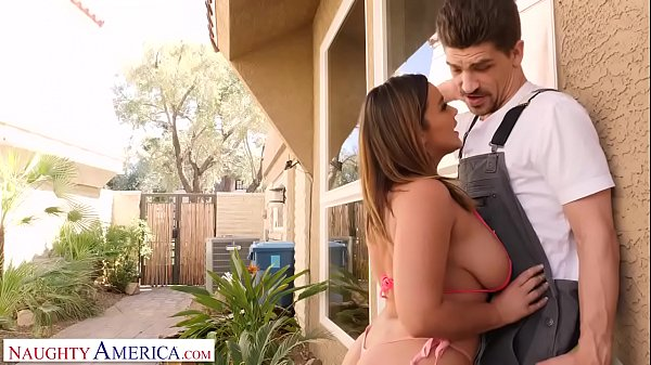Naughty America Natasha Nice fucks lawn guy while hubby's at work