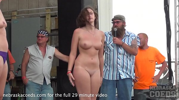 hot coed body contest at abate of iowa biker rally Thumb