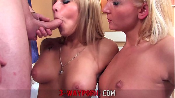 3-Way Porn - 2 Amateur Blondes for 1 Dick