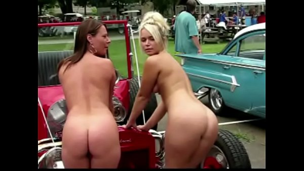 Naked at  the Car Show