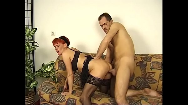 Naughty redhead Christine is ready to give a warm blowy and then fuck hard Thumb