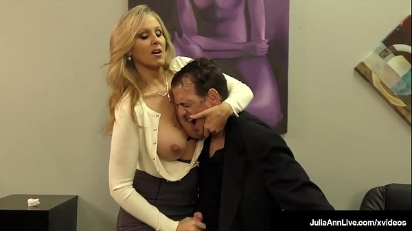 Lay Your Head On My Big Tits! Julia Ann Milks Your Cock & You Love it!