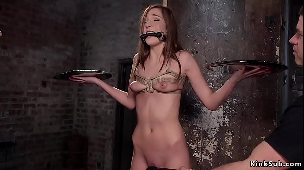 Slave student ass whipped and cunt banged