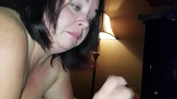Sexy BBW Sucks Dick and Squirts all Over Cock pt