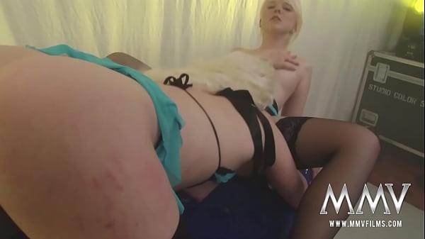 Hot lesbians Eva Eden and Nici sharing fresh cum