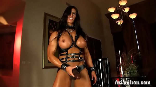 Muscle Strap: Aziani Iron Angela Salvagno In Leather With Strap-on