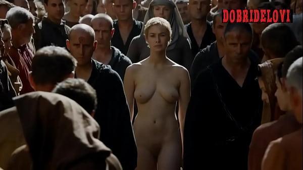 Lena Headey walk of shame for Game of Thrones on DobriDelovi.com