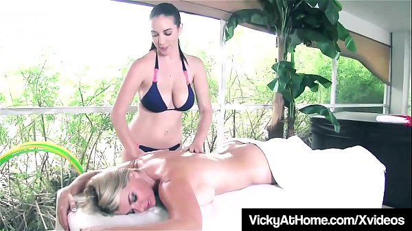 VNAGirls Vicky Vette & Jelena Jensen Oil Down & Scissor Fuck
