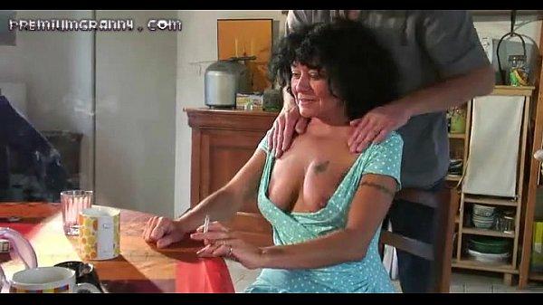 Four cocks for this beautiful mature slut