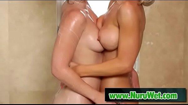 Asa Akira's Lesbian Shower Fuck