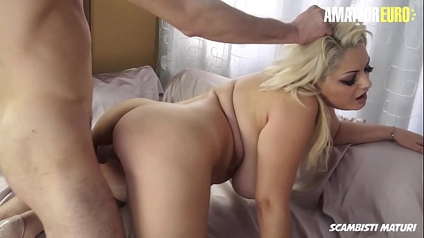 AMATEUR EURO - Romanian BBW Blondie Nadia Gets Pussy Licked And Hard Fucked By Young Stallion