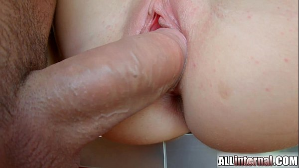 Allinternal April Blue gushes cum out of her pussy up close