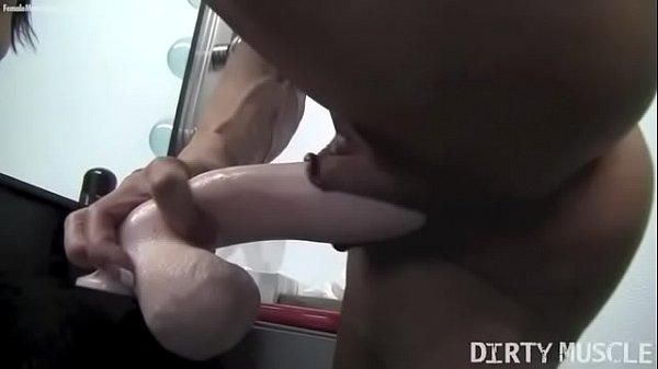 Naked Female Bodybuilder Fucks a Dildo - Angela Salvagno