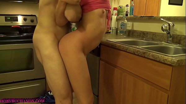 Hot 18 Yr Old Blonde Squirts All Over MMA Fighter Neighbor's Kitchen Thumb