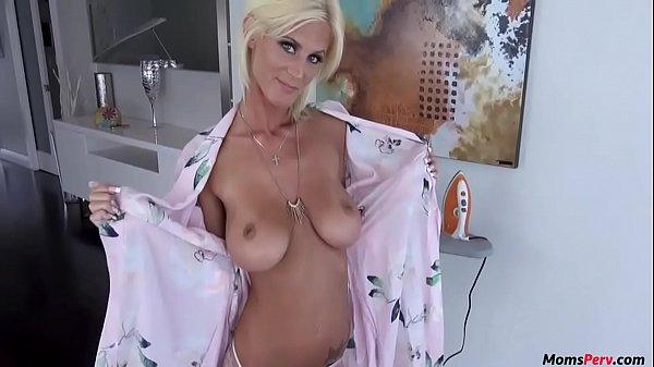 Blonde skinny mom blows son! Thumb