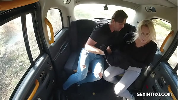 Sexy blonde widow got it hard in the taxi Thumb