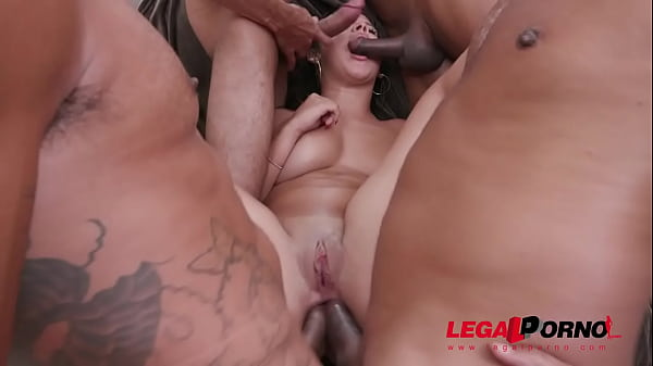 Paola Gurgel gets hardcore 4on1 with DP, DAP, DVP and her first Triple Penetration YE054