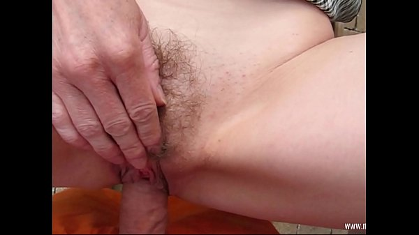Outdoor Fuck with the hairy neighbor slut!