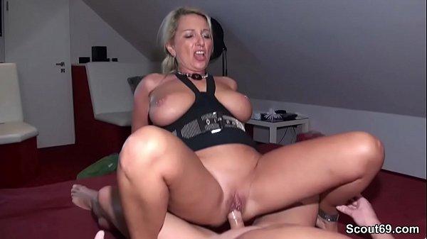 German Amateur MILF seduce to Fuck by two Stranger