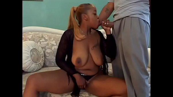 Ebony slut with amazing boobs Akara Cummings ge...