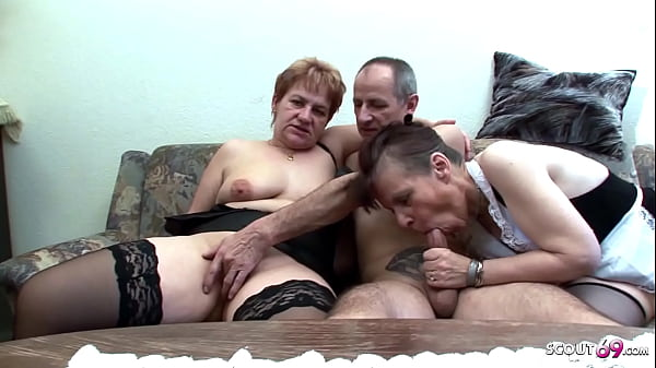 Two German Grandmams at Real FFM Threesome Porn Casting Sex Thumb