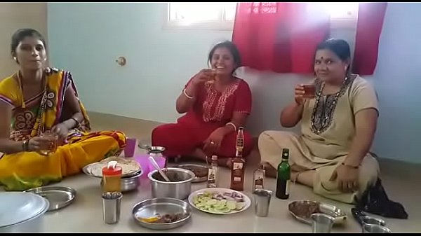 Village Aunties enjoying party with wine than fucking with her husbands... HD Thumb