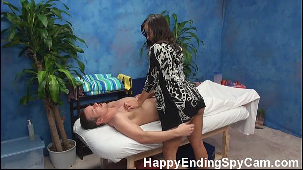 Horny Massage Girl Seduces Client