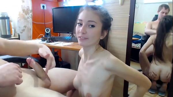 Amateur blowjob by stepsister