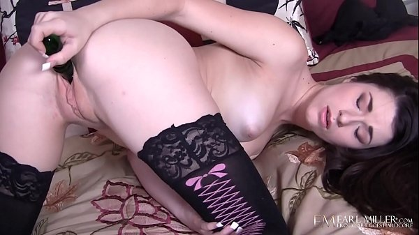 Young Stocking Clad Brunette Lacy Channing Finger Fucks To Wet Orgasm! Thumb
