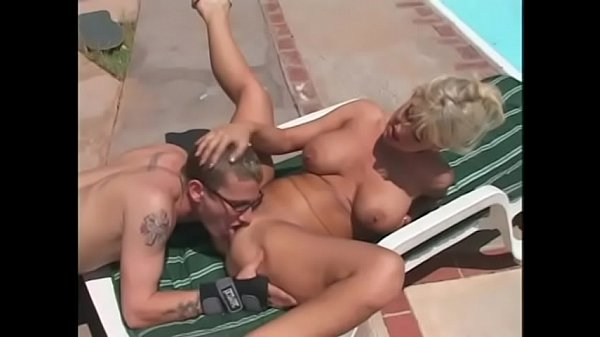 Pool Boy Gets A Nice Cock Sucking By The Slutty Blonde Vicki Vogue Outdoors