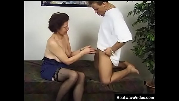 Old granny gets double fucked by her grandson and his best friend